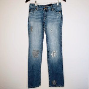 DKNY Downtown Brooklyn Bootcut Ripped Jeans 3